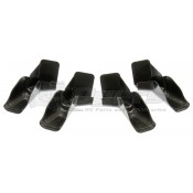Camco Black Gutter Spouts with Extensions