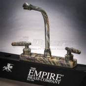 Empire Brass Company Lever Handle High Rise Camouflage Kitchen Faucet