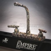 Empire Brass Company Lever Handle High Rise Weeds And Reeds Camouflage Kitchen Faucet