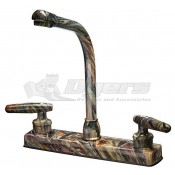 Empire Brass Company Lever Handle High Rise Green Camouflage Kitchen Faucet
