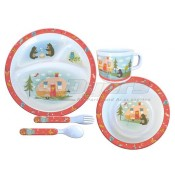 Camp Casual 5 piece Kids Mealtime Set