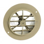 "D&W Beige 4"" Round Register Outlet Vent with Damper"