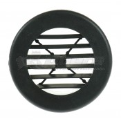 "D&W Black 4"" Round Register Outlet Vent W/O Damper"