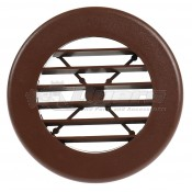 "D&W Walnut 4"" Round Register Outlet Vent W/O Damper"