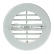 "D&W White 4"" Round Register Outlet Vent W/O Damper"