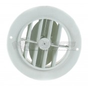 "D&W White 4"" Round Register Outlet Vent With Damper"
