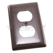 Diamond Brown Plastic Receptacle Plate 4132B