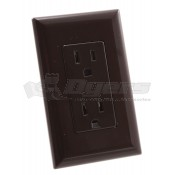 Diamond Self Contained Brown Receptacle WDR15BR