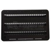 "Dometic 24"" Plastic Black Refrigerator Lower Sidewall Vent"