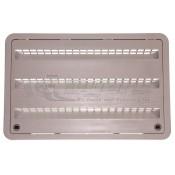 "Dometic 24"" Plastic Cool Gray Refrigerator Lower Sidewall Vent"