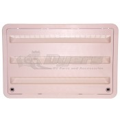 """Dometic 24"""" Plastic Neutral White Refrigerator Lower Sidewall Vent"""