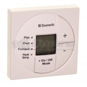 Dometic Polar White Single Zone LCD Thermostat with Heat Strip Application