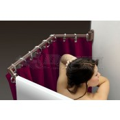"""Stromberg Carlson Oil Rubbed Bronze 35"""" to 42"""" Extend-A-Shower Rod"""