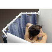 "Stromberg Carlson White 35"" to 42"" Extend-A-Shower Rod"