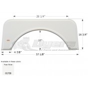 Icon Polar White Kit Single Fender Skirt FS1730