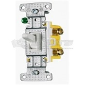 Diamond Toggle Light Switch White