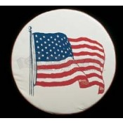 """ADCO 27"""" US Flag Spare Tire Cover"""