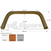 Icon Copper Coachman Shasta Single Fender Skirt FS1710