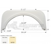 Icon Polar White Travelmate Single Fender Skirt FS1722