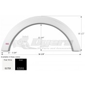 Icon Polar White Single Fender Skirt FS1759