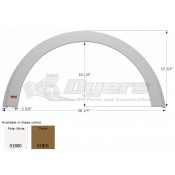 Icon Polar White R-Vision Single Fender Skirt FS1800