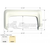 Icon Colonial White Single Fender Skirt FS300