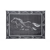 Ming's Mark 8' x 11' Black/White Reversible Patio Mat