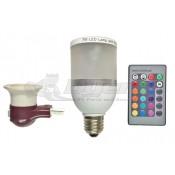 Diamond Bluetooth Speaker Multi Color LED Bulb