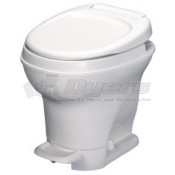 Thetford Aqua Magic V High Profile Foot Flush with Water Saver White Toilet