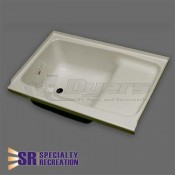 "Specialty Recreation 24"" x 36"" LH Parchment Step Tub"