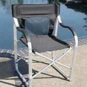 Faulkner Black Deluxe Director's Chair