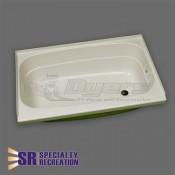 """Specialty Recreation 24"""" x 32"""" RH Parchment Bathtub"""