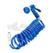 Dura Faucet Exterior Spray Port Quick Connect Hose Blue