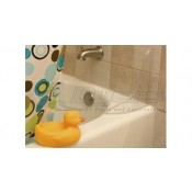 Camco Bath Tub Splash Guard Ultra Clear Glass