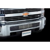 Putco Bumper Grille Inserts - Chevrolet Silverado HD - Stainless Steel - Bar Design Bumper Grille