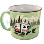 Camp Casual The MUG Beary Green Ceramic