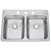 "Pure Liberty 25"" X 15"" Double Bowl Stainless Steel Sink *** NEW ITEM ***"
