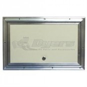 "Interstate Fiberglass 11"" x 18"" Baggage Door"