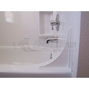 Camco Bath Tub Splash Guard White