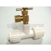 Flair-It Pex Ice Maker T Fitting 1/2 Inch PEX x 1/2 Inch PEX x 1/8 Inch Female Pipe Thread