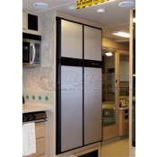 Norcold Refrigerator Brushed Aluminum Door Panels Set for 1200 Series