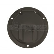 RV Designer Black Round Low Profile Cable Hatch