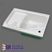 "Specialty Recreation 24"" x 38"" RH White Step Tub"