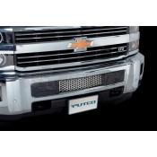 Putco Bumper Grille Insert - Chevrolet Silverado HD - Stainless Steel - Punch Design Bumper Grille