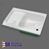"Specialty Recreation 24"" x 40"" RH White Step Tub"
