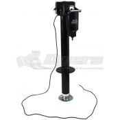 Quick Products Jack Quick Black 3250lb Electric Tongue Jack with Dual Lights and Adjustable Foot