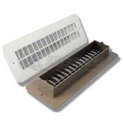 "JR Polar White 2-3/8"" x 10"" Floor Register"