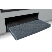 "Prest-O-Fit Stone Gray 23"" Jumbo Wraparound RV Step Rug"