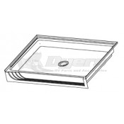"Lippert Components 32"" x 24"" White Center Front Drain Rectangular Shower Pan"