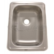 "LaSalle Bristol Stainless Steel 17"" x 13"" Single Kitchen Sink"